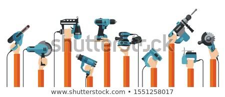 Stockfoto: Ambachtsman · elektrische · zag · hout · industrie