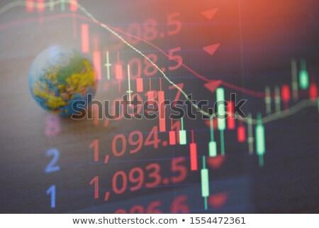 Mundo crise financeira azul financiar cor suicídio Foto stock © fantazista