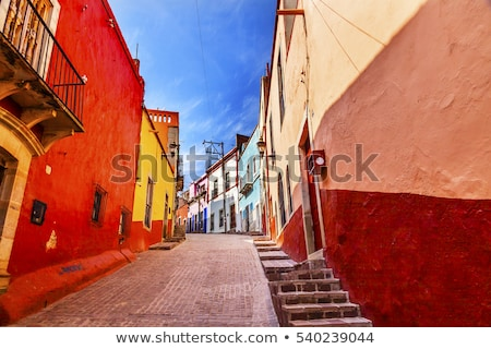Buildings of many colors Mexico Stock photo © emattil