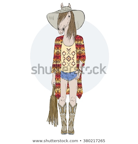 woman dressed as a hippy stock photo © photography33