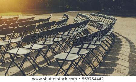 black folding chair stock photo © winterling