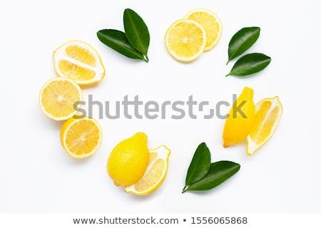 Fresh ripe lemons. Isolated on white background Stock photo © shutswis