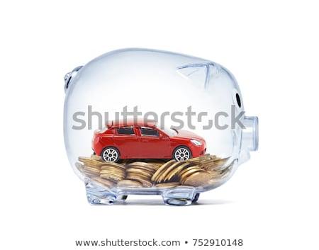 красный автомобилей деньги белый фон продажи Сток-фото © Grazvydas
