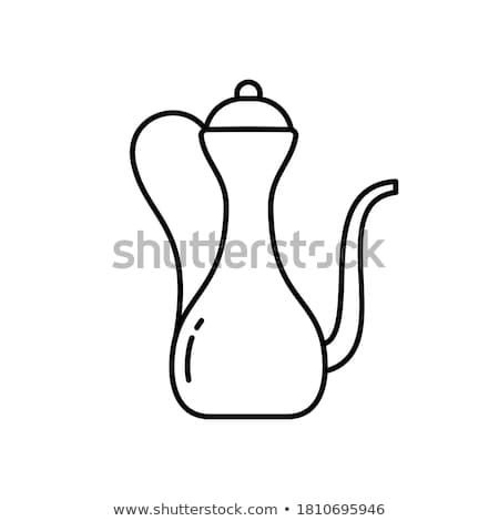 Cobre jarra retrato mujer antigua cara Foto stock © dolgachov