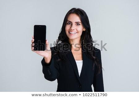 empresária · telefone · branco · terno · feminino - foto stock © wavebreak_media