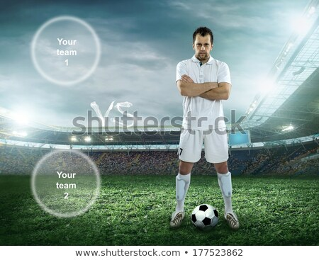 Stock photo: soccer, football player, staying