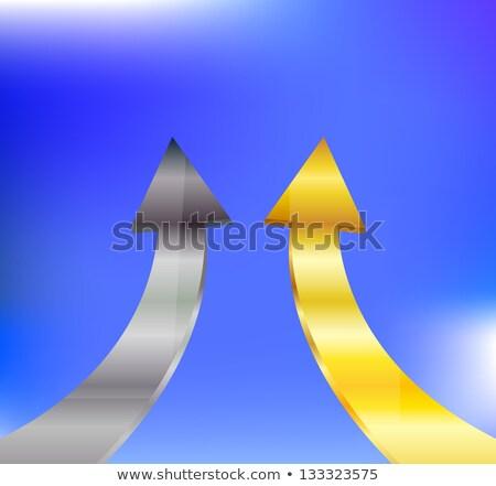 Arrowheads fly upward to sky Stock photo © Ansonstock