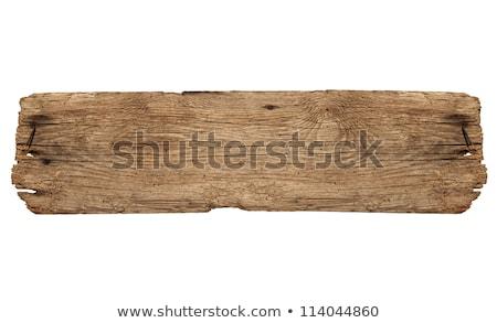antika · eski · ağaç · ahşap · plaka - stok fotoğraf © pterwort