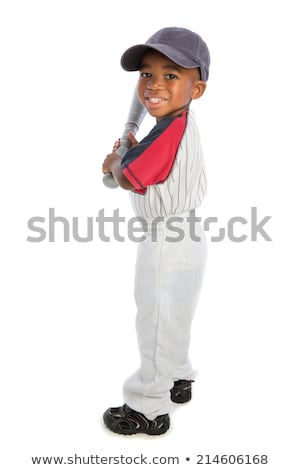 Boy with baseball bat on black background Stock photo © Freshdmedia