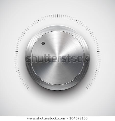 Volume button (music knob) with metal texture Stock photo © archymeder
