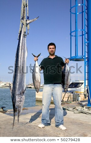 angler fish catch albacore tuna and spearfish Stock photo © lunamarina