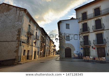 streets of the small old town ares in spain stock photo © pilgrimego