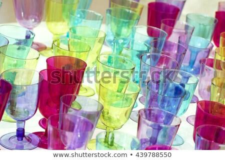 Macro tiro azul plástico flauta arte Foto stock © dacasdo