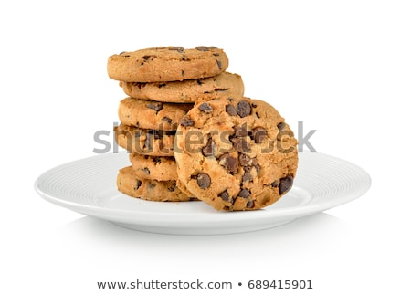 クッキー プレート チョコレート チップ 食品 ガラス ストックフォト © icemanj