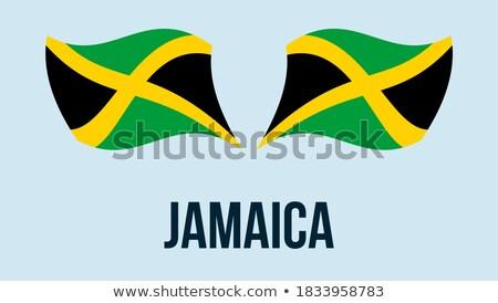 hart · vlag · Jamaica · grunge · 3d · illustration · reizen - stockfoto © flogel