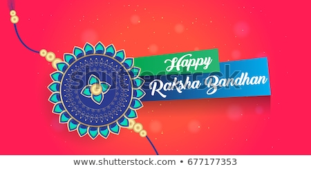 Raksha Bandhan festival Vector illustration template brochure de Stock photo © bharat