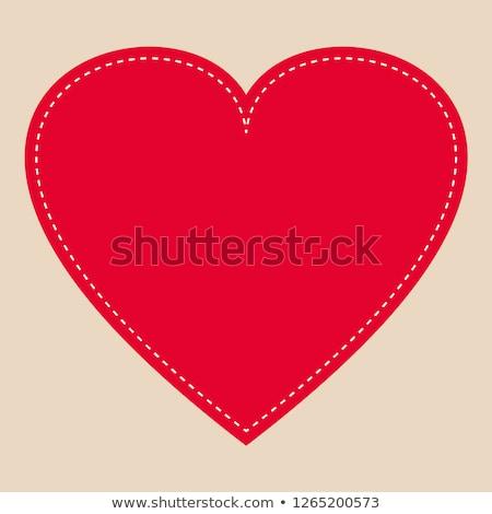 Valentine's day heart web button Stock photo © burakowski