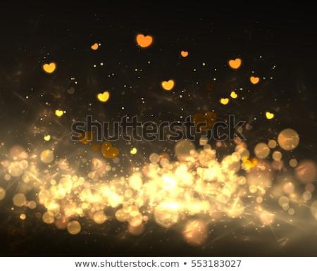 ouro · feliz · dia · dos · namorados · letra - foto stock © nazlisart