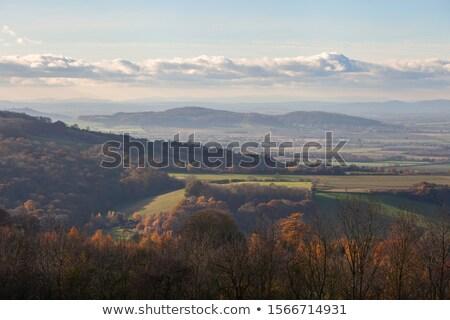 Kilátás Broadway domb hideg reggel nap Stock fotó © andrewroland
