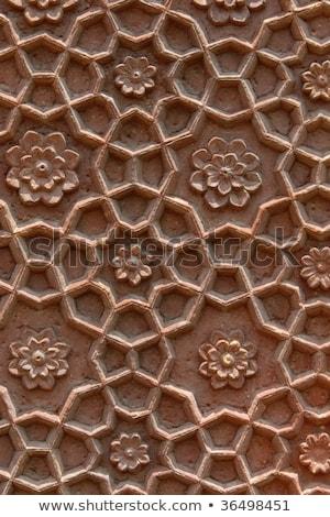 Pietra dettagli India fiori mano lavoro Foto d'archivio © danielgilbey