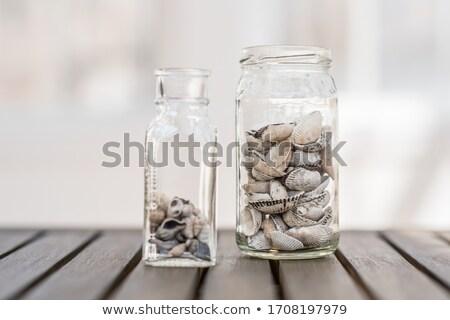 sea shells in glass jars stock photo © zhekos