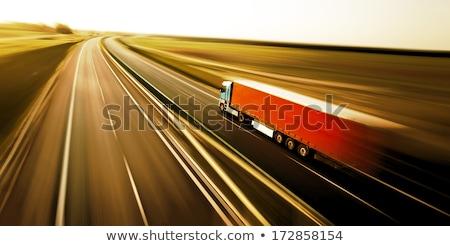 fast moving truck stock photo © nejron