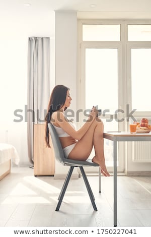 brunette in underclothes Stock photo © 26kot