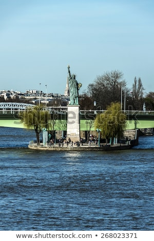 Replica of the Statue of Liberty in Paris Stock photo © chrisdorney