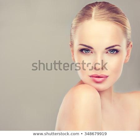 Portret perfect vrouwelijke schoonheid vrouw gezicht Stockfoto © arturkurjan