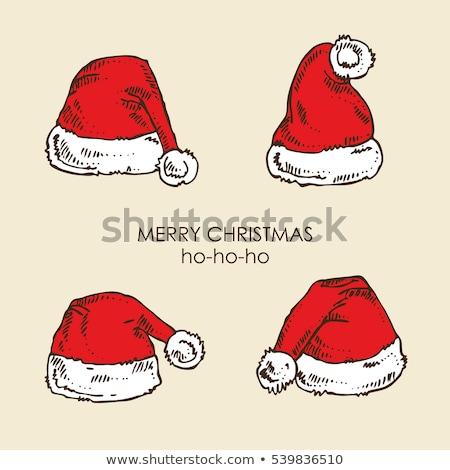 Рождества Hat Vintage стиль эскиз вектора Сток-фото © kali
