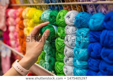 Hilados mercado colorido venta aire libre resumen Foto stock © rhamm