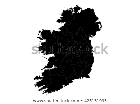 silhouette map of Ireland Stock photo © mayboro