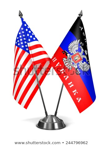 USA miniatura flagi odizolowany biały tle Zdjęcia stock © tashatuvango