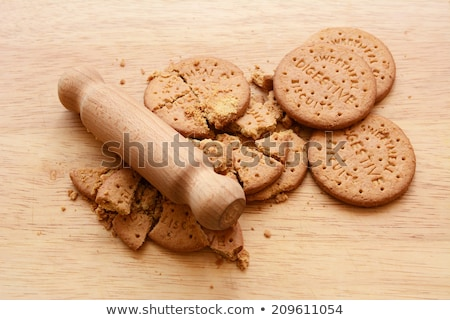 Whole and crushed digestive biscuits  Stock photo © sarahdoow