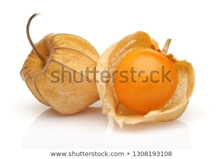 taze · yalıtılmış · beyaz · gıda · meyve · sarı - stok fotoğraf © klinker