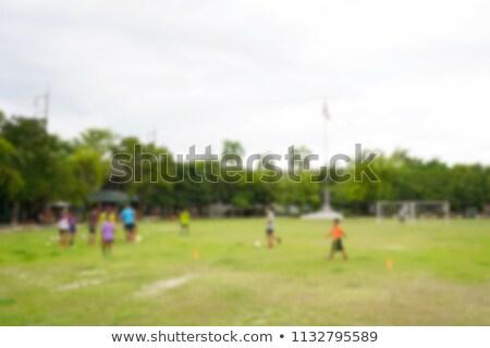 Stock fotó: Kicsi · helyi · futballpálya · Thaiföld · homokos · pálmafák