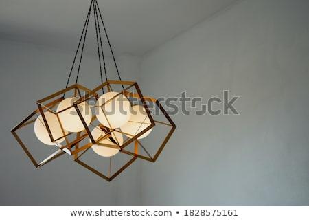 Ragyogó csillár akasztás plafon hotel ház Stock fotó © art9858