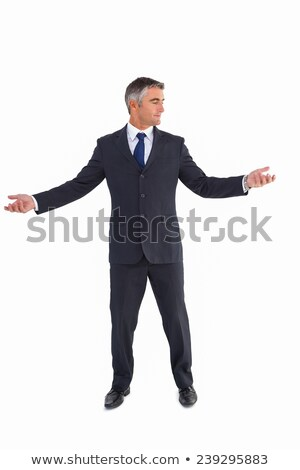 Businessman well dressed spreading his arms Stock photo © wavebreak_media