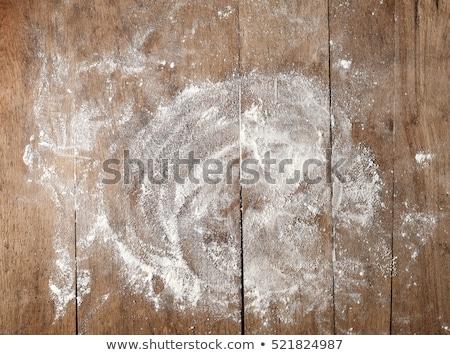 Meel vintage houten tafel boven Stockfoto © vinnstock