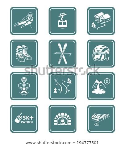 Camping icons || TEAL series Stock photo © sahua