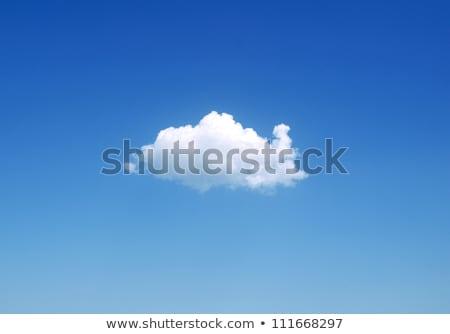 Eenzaam wolk diep blauwe hemel hemel wolken Stockfoto © vtls
