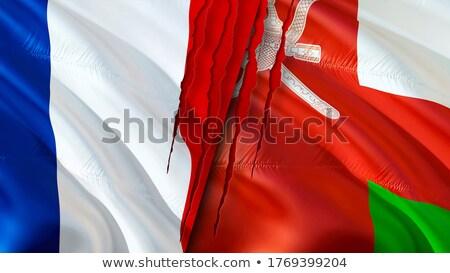 Fransa Umman bayraklar bilmece yalıtılmış beyaz Stok fotoğraf © Istanbul2009