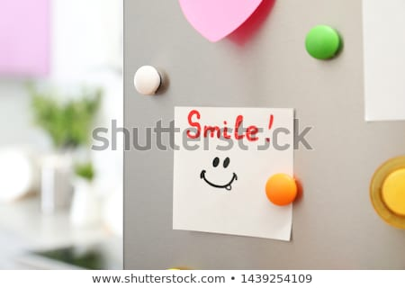 messaggio · frigorifero · nota · porta - foto d'archivio © fuzzbones0