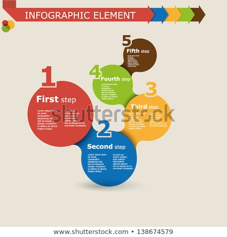 Infographic Abstract template with multiple choices Stock photo © DavidArts
