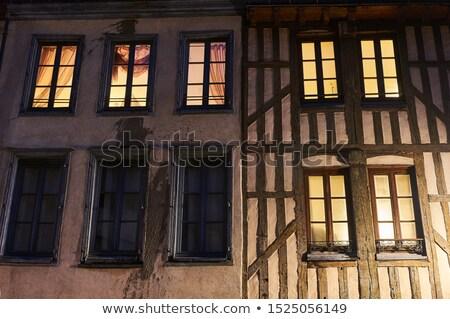 Facade of a half-timbered house at night Stock photo © haraldmuc