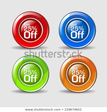 Get 25 Percent Yellow Vector Icon Button Stock photo © rizwanali3d