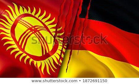 Duitsland Kirgizië vlaggen puzzel geïsoleerd witte Stockfoto © Istanbul2009