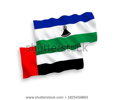 Egyesült Arab Emírségek Lesotho zászlók puzzle izolált fehér Stock fotó © Istanbul2009