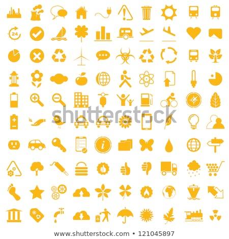 Energía amarillo vector icono diseno digital Foto stock © rizwanali3d