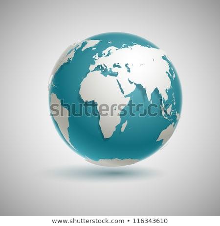 Vektor valósághű Föld illusztráció színes földgömb Stock fotó © TRIKONA